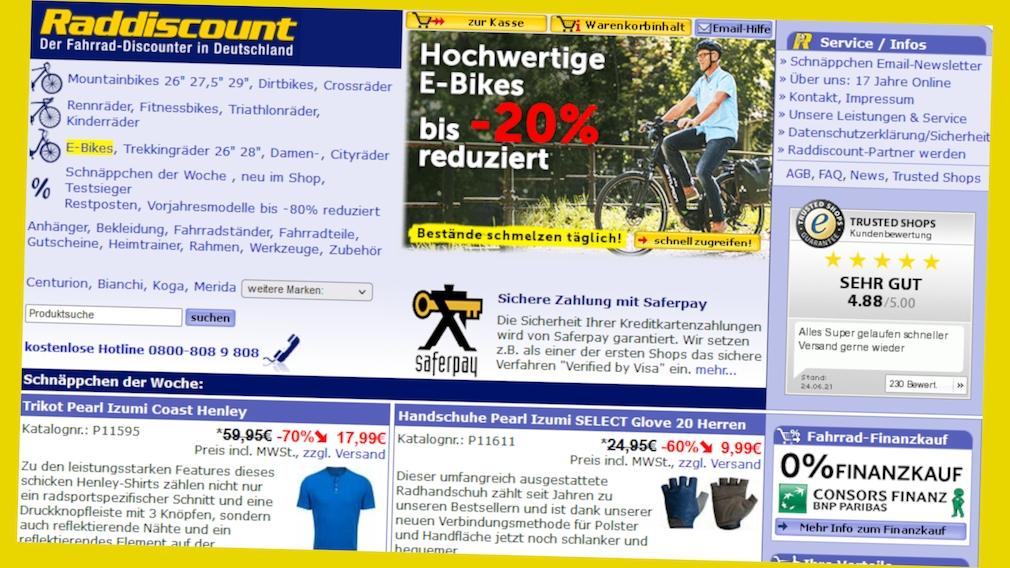 Spar-Deal bei Raddiscount mit Online-Gutschein