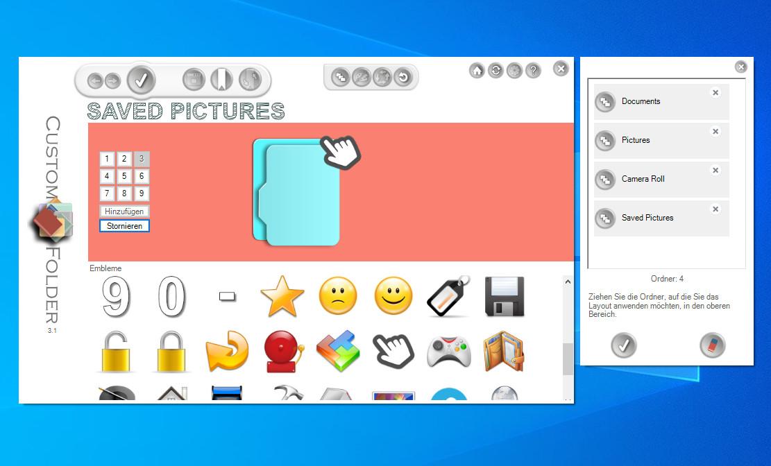 Screenshot 1 - CustomFolder Portable