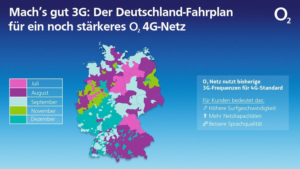 So sieht der Fahrplan für die 3G-Abschaltung im O2-Netz aus