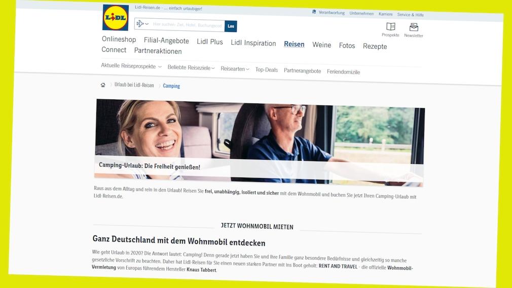 Lidl-Reisen: Jetzt Tankgutschrift zur Wohnmobil-Miete sichern