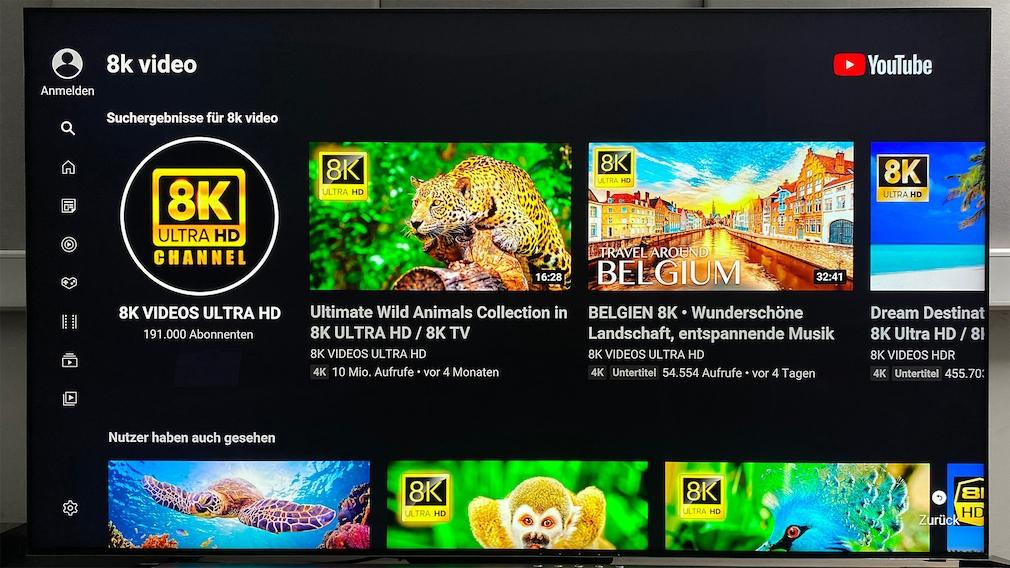 Auf YouTube gibt es eine ganze Reihe Clips in nativer 8K-Auflösung