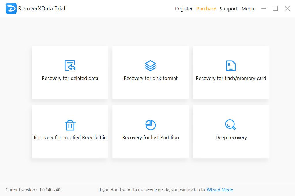 Screenshot 1 - RecoverXData Free