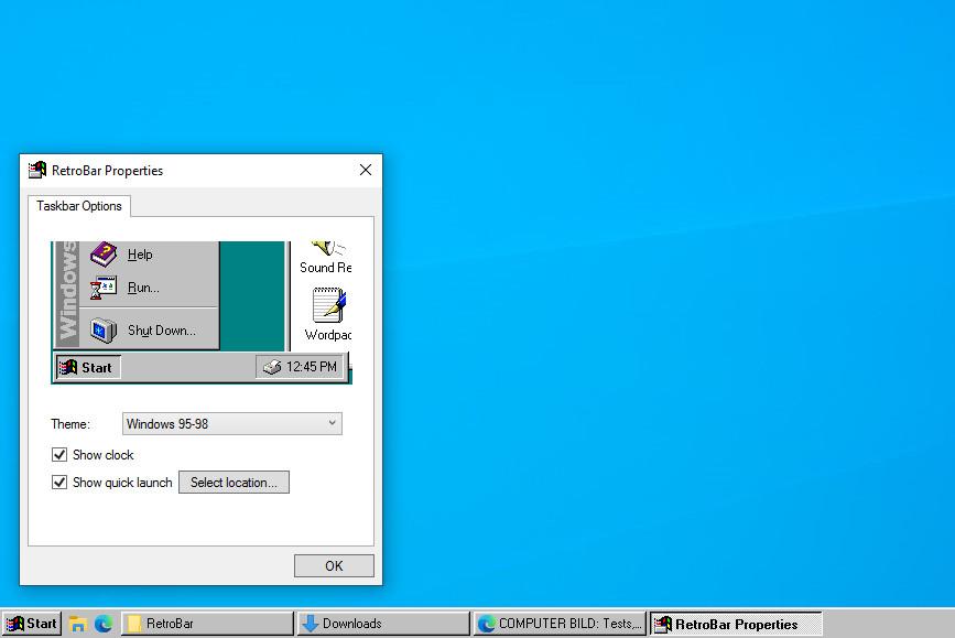 Screenshot 1 - RetroBar