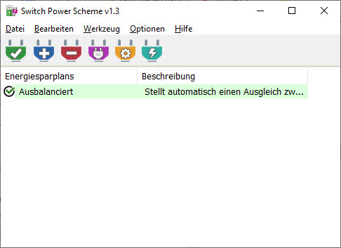 Screenshot 1 - Switch Power Scheme