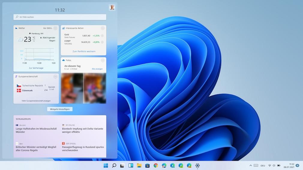 Windows 11: Widgets (WIN+W)