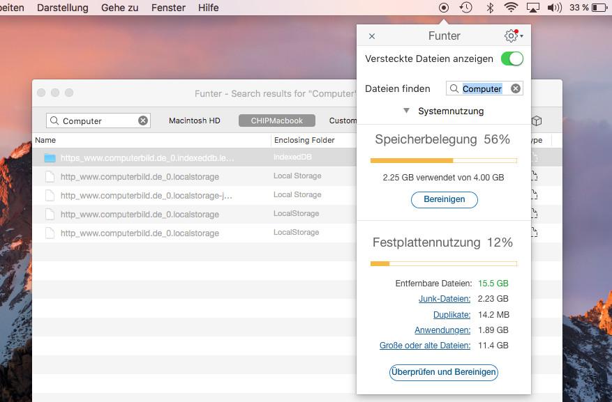 Screenshot 1 - Funter (Mac)