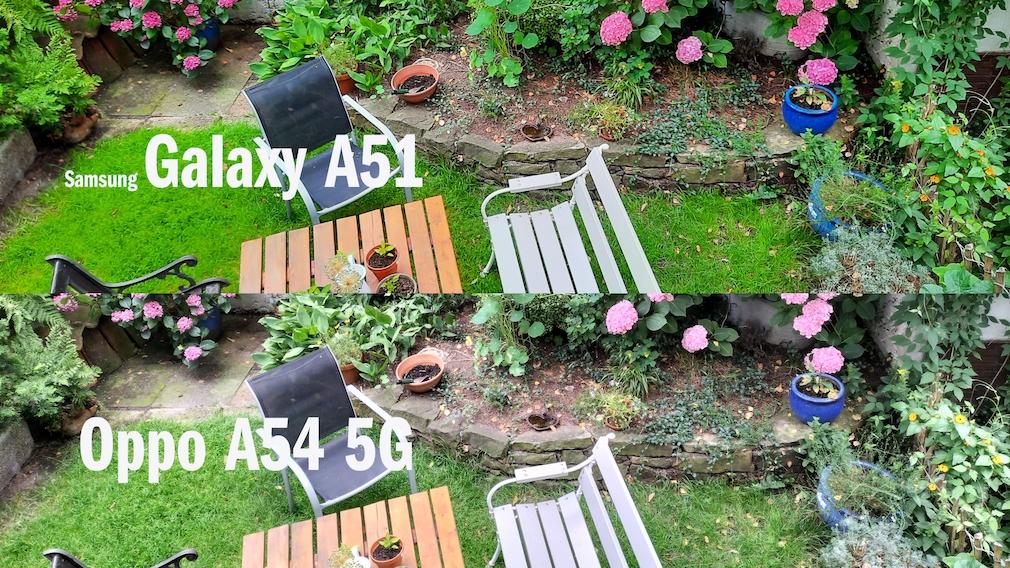 Kamera-Vergleich: Oppo A74 5G vs. Samsung Galaxy A51