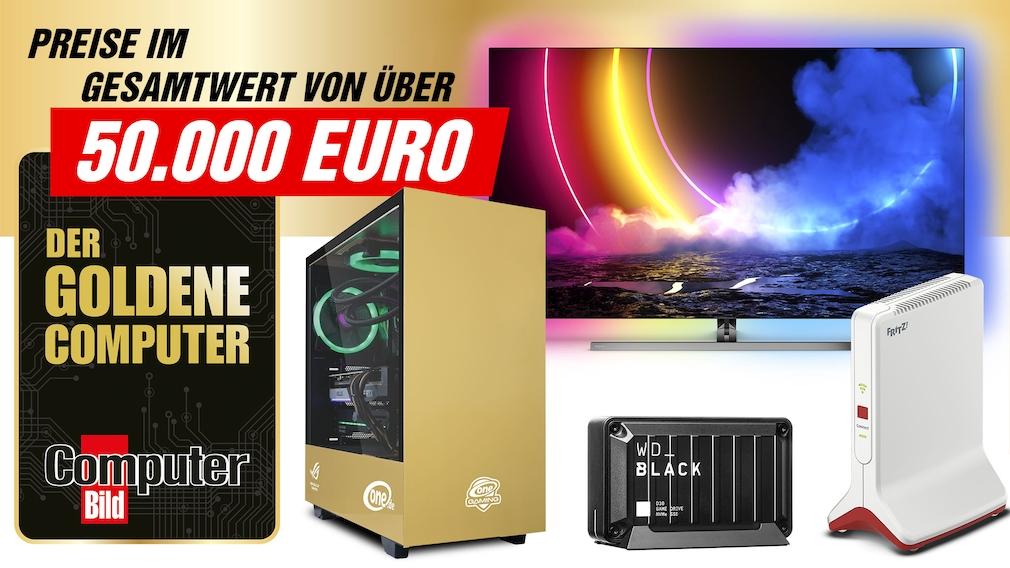 Der Goldene Computer: jezt abstimmen und Traumpreise gewinnen Jetzt mitmachen und tolle Preise im Gesamtwert von über 50.000 Euro gewinnen!
