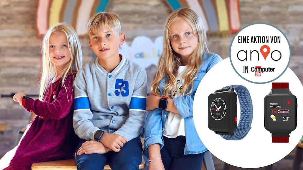Wenn das Smartphone einfach noch zu groß ist: Die Kinder-Smartwatch Anio 5 jetzt in der COMPUTER BILD-Edition.
