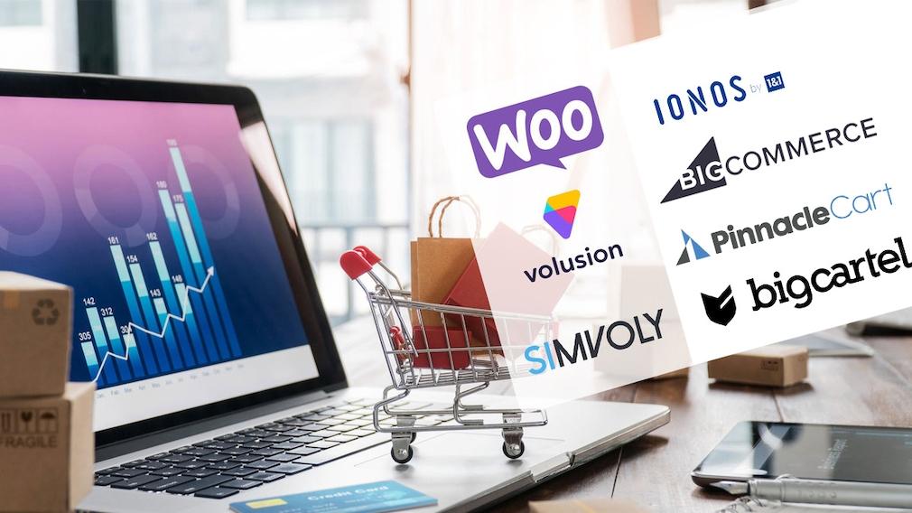 Online-Shop aufbauen: Sechs Shopify-Alternativen Sie möchten einen Online-Shop aufbauen? COMPUTER BILD stellt fünf Shopify-Alternativen vor.©iStock.com/ipopba, Woocommerce, BigCommerce, Volusion, Big Cartel, Pinnacle Cart, IONOS