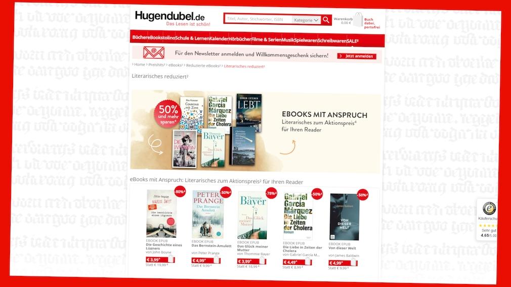 eBook-Preishits bei Hugendubel