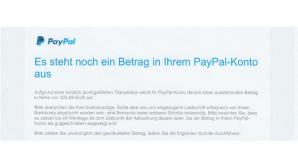 PayPal Mahnung©COMPUTER BILD
