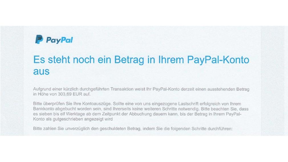 PayPal Mahnung