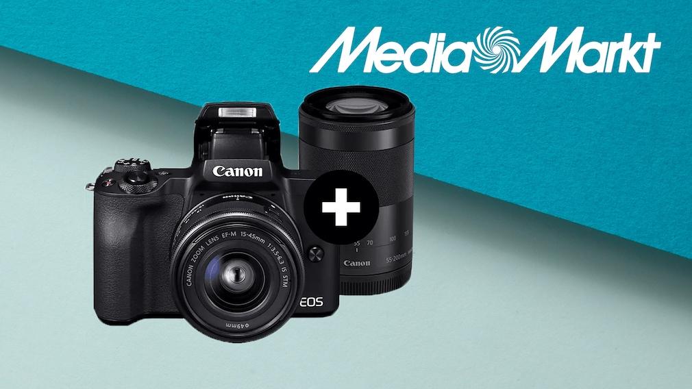 Canon-Kamera im Media-Markt-Angebot: Systemkamera mit zwei Objektiven günstiger