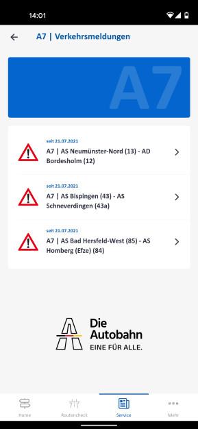 Autobahn App (Android-App)