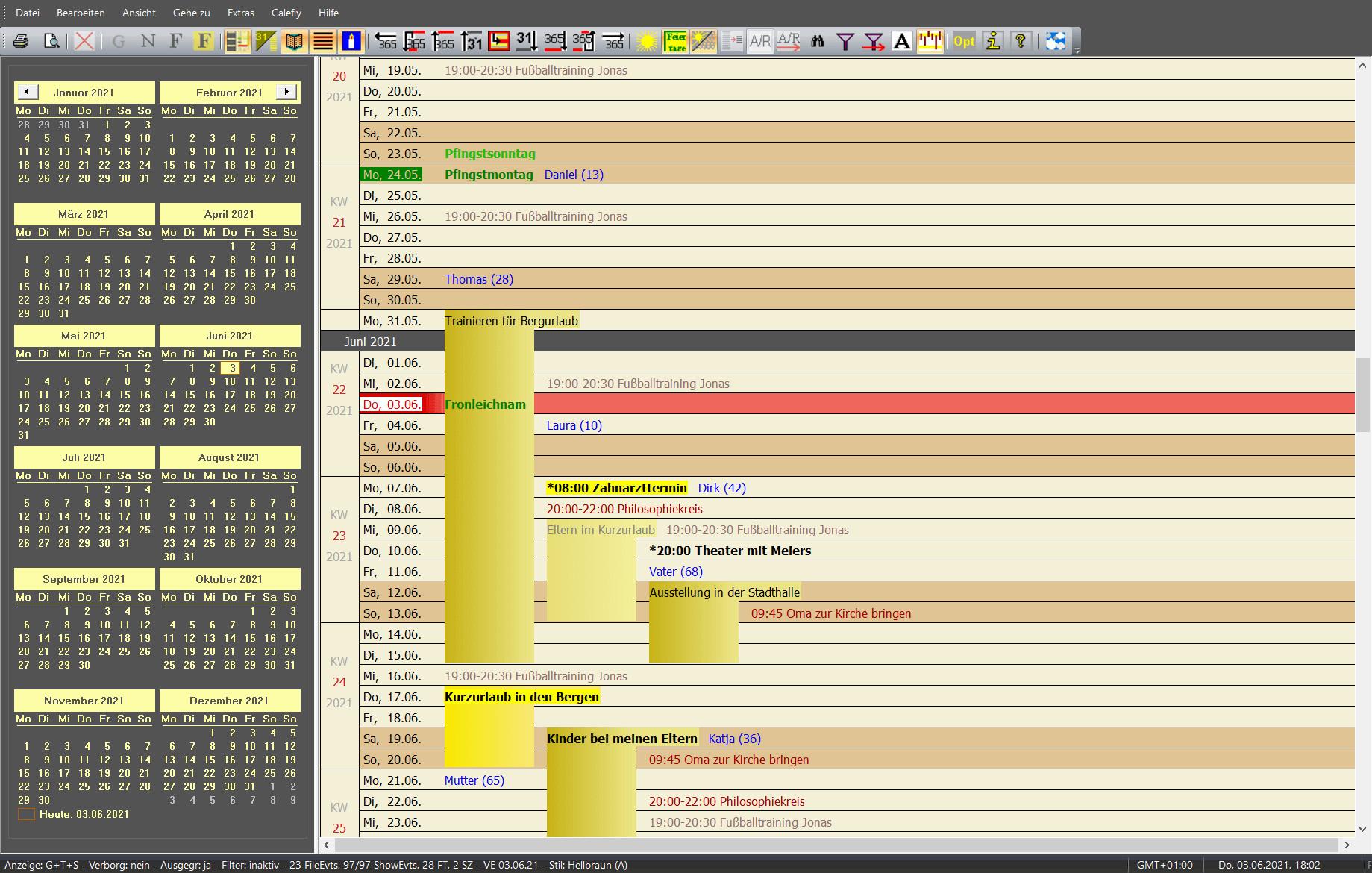 Screenshot 1 - Calefly