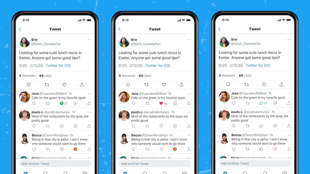 Neue Funktion: Twitter testet Dislike-Schaltfläche