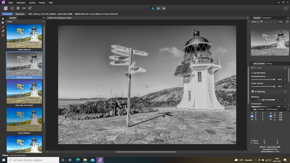 Affinity Photo Tone Mapping Persona