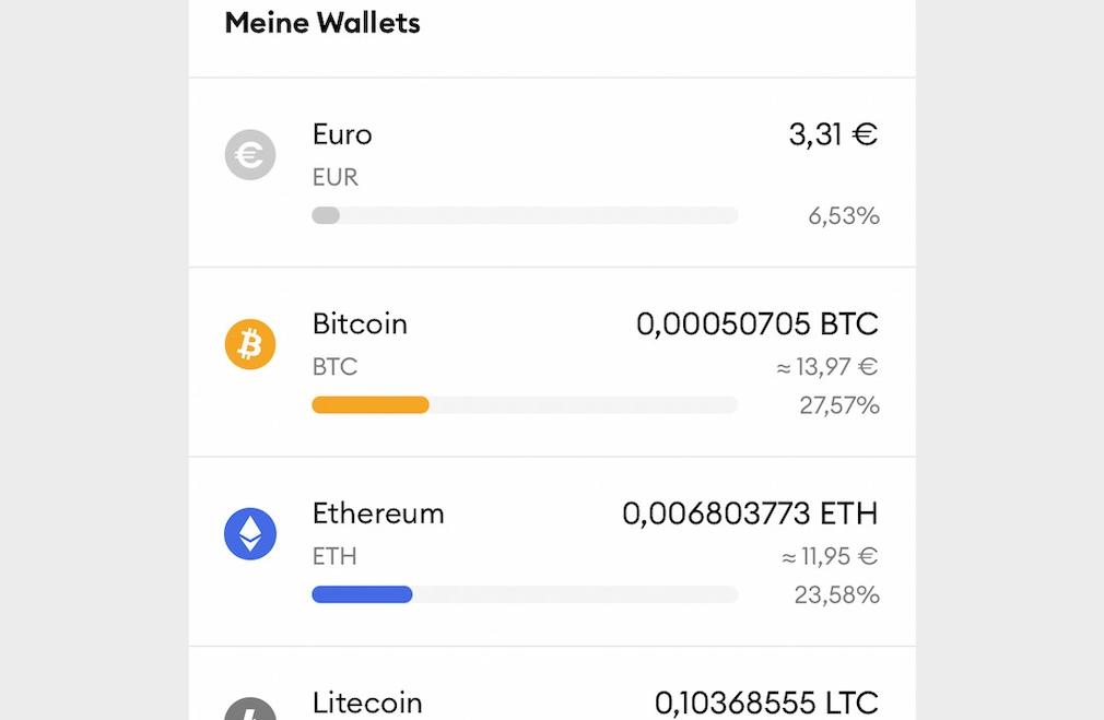 BSDEX: App-Wallets