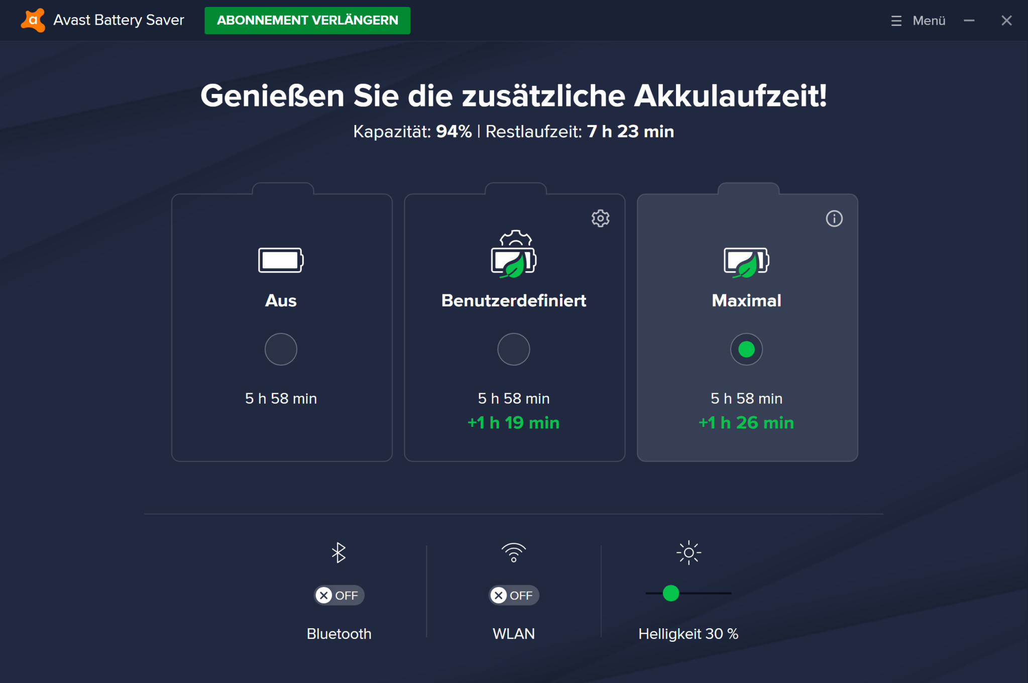 Screenshot 1 - Avast Battery Saver