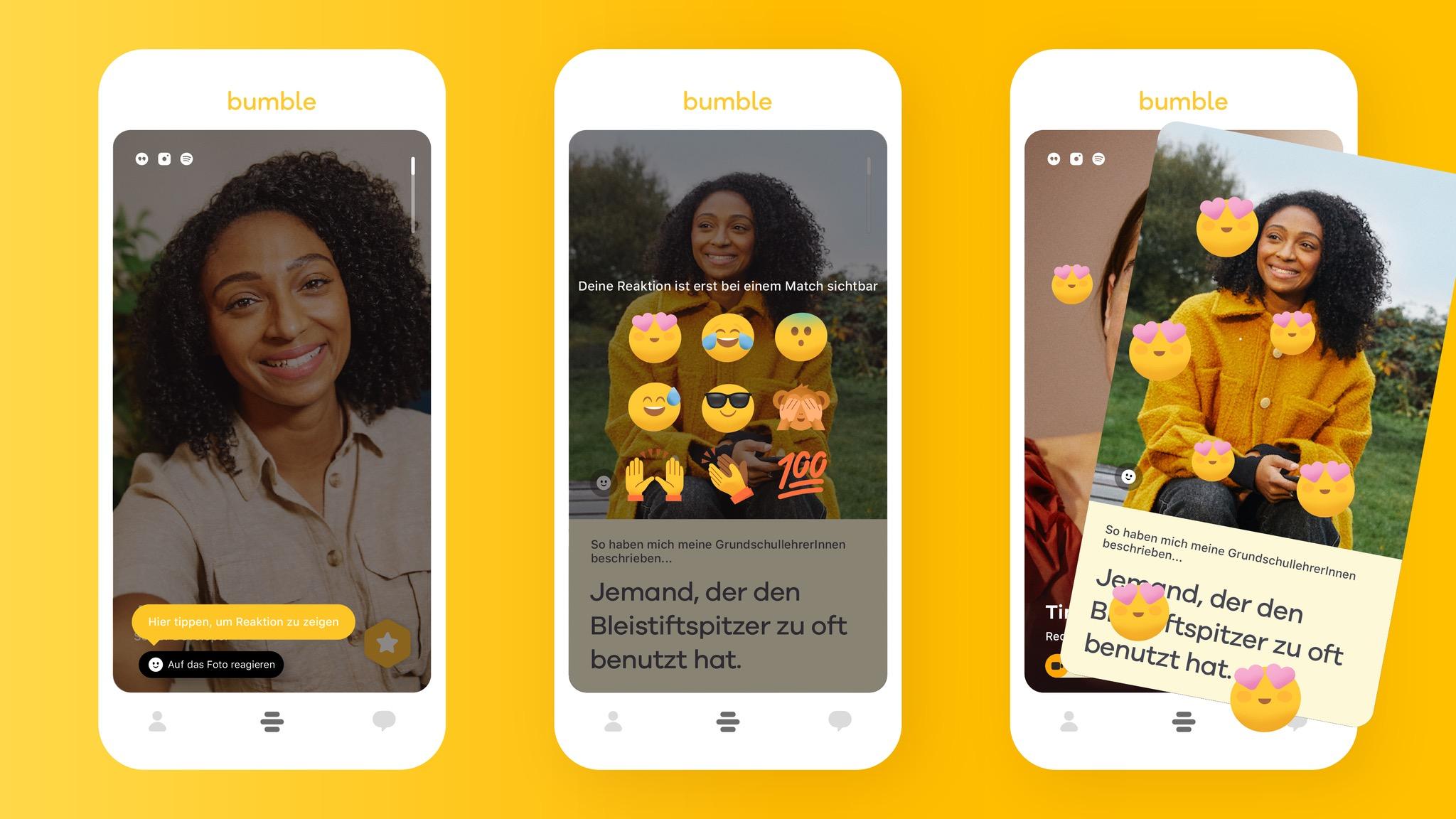 Bumble: Hier machen Frauen den ersten Schritt – auch mit Emojis