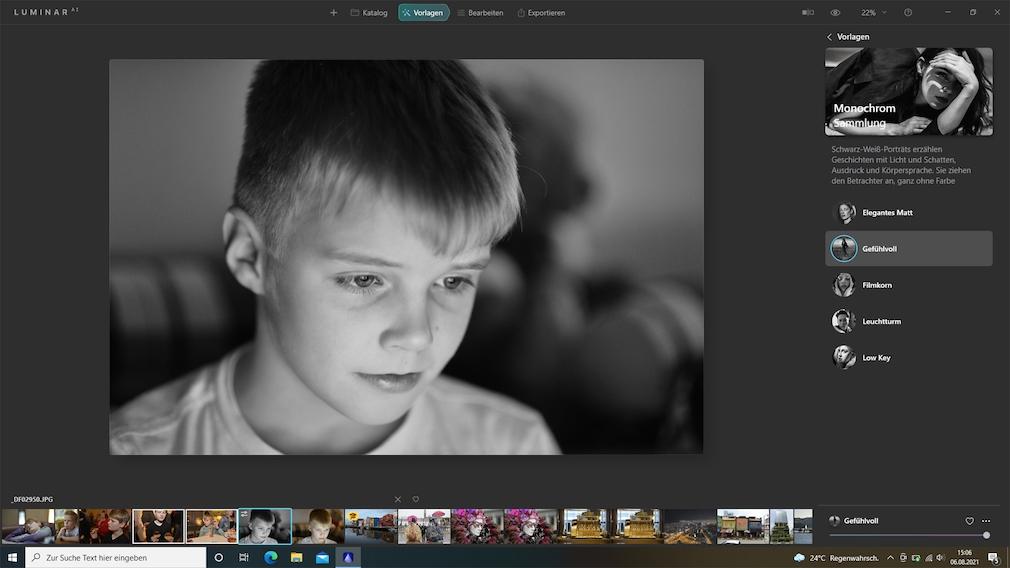 Luminar AI Porträts bearbeiten