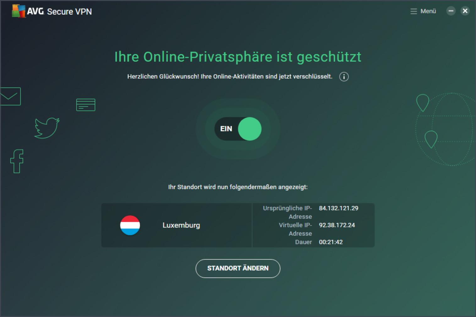 Screenshot 1 - AVG Secure VPN