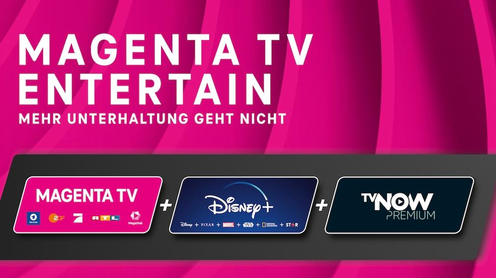 Magenta TV Entertain mit Magenta TV, Disney Plus und TV Now