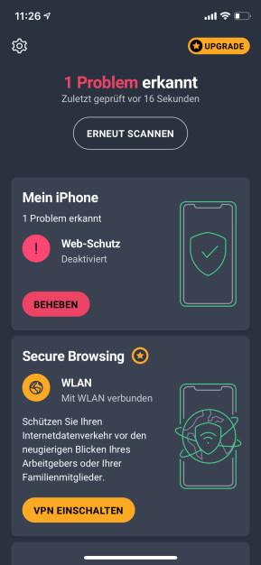AVG Mobile Security (App für iPhone & iPad)