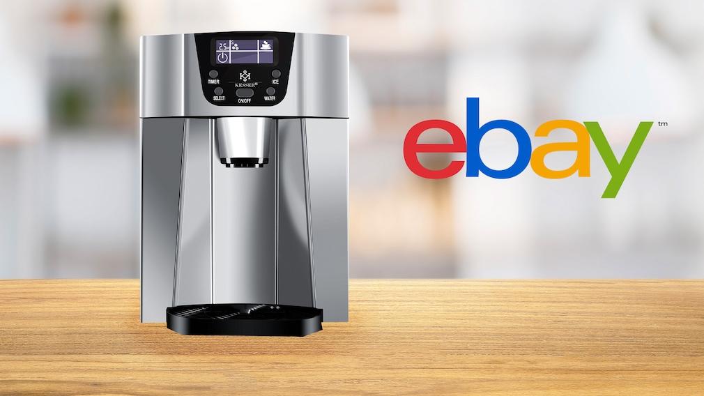 Jetzt Kesser-Eiswürfelmaschine KE12-Gastro bei Ebay kaufen