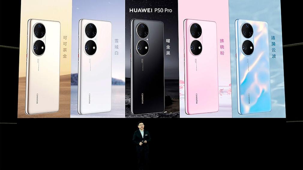 Richard Yu zeigt die neue P50-Serie von Huawei