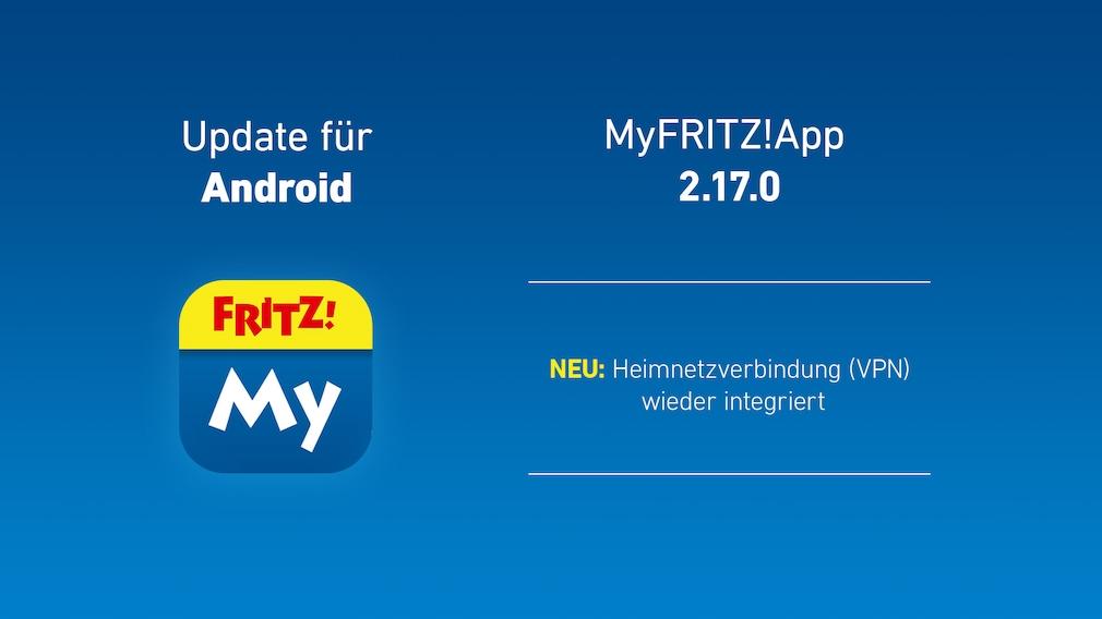 Update für AVM MyFritzApp