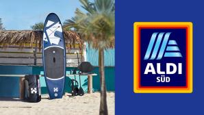 Stand-Up-Paddle bei Aldi im Angebot: Modell von Home Deluxe zum Sparpreis©Aldi Süd, Home Deluxe