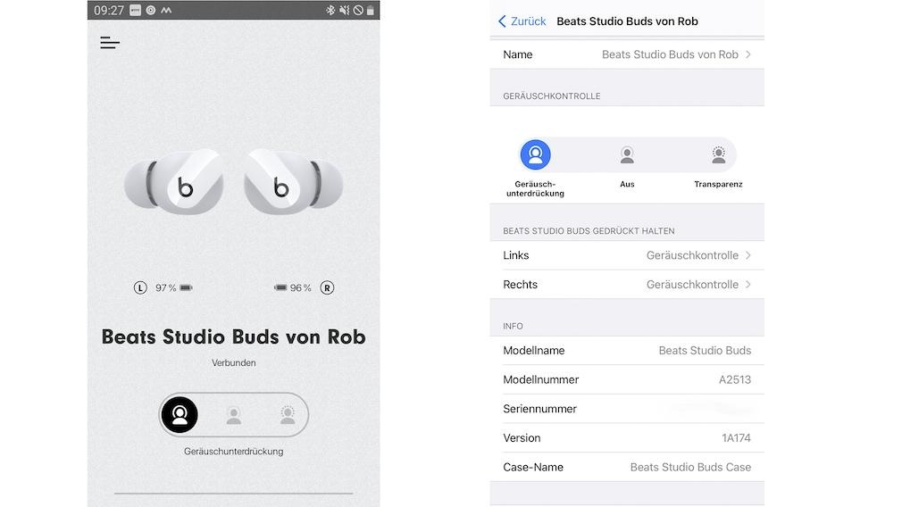 Beats Studio Buds in test: application