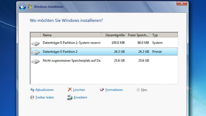 So funktioniert die Partitionierung unter Windows