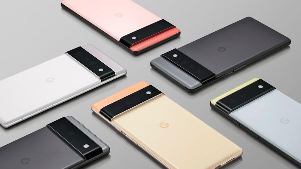 Pixel-Geräte in diversen Farben