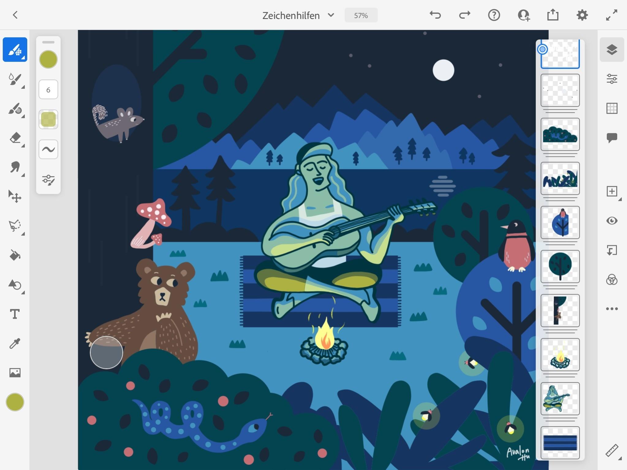 Screenshot 1 - Adobe Fresco (App für iPhone & iPad)