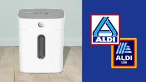Aktenvernichter bei Aldi im Angebot: HP schreddert Dokumente zum soliden Preis Aldi-Angebot: Die Discounter haben gegenw�rtig den Aktenvernichter HP OneShred 8CC in ihrem Online-Sortiment.©Aldi, HP