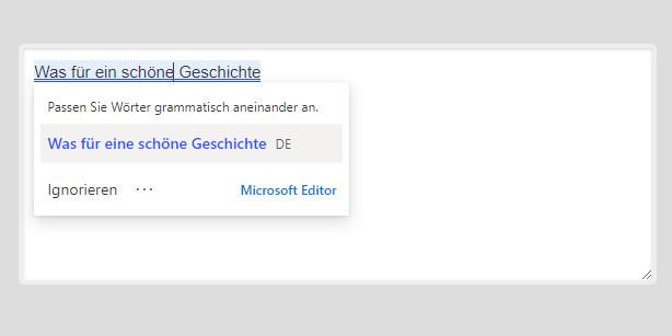 Screenshot 1 - Microsoft-Editor für Microsoft Edge Chromium