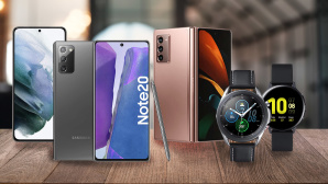 Samsung Galaxy Z Fold 2, Samsung Galaxy S21, Samsung Galaxy Note 20, Samsung Galaxy Watch 2 & 3©iStock.com/ charliepix, Samsung