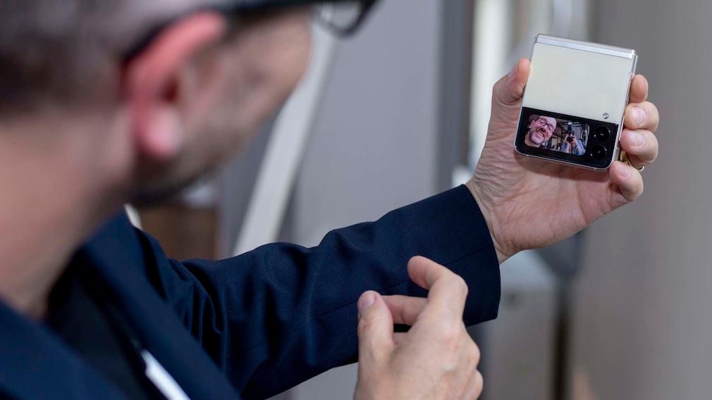 Galaxy Z Flip 3 für Selfies