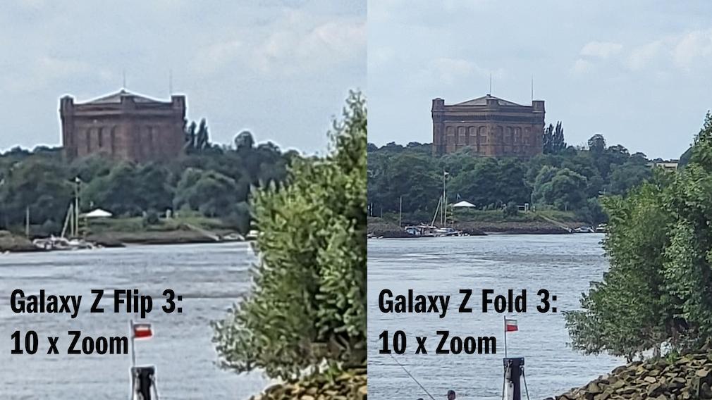 Zoom-Vergleich Flip 3 und Fold 3