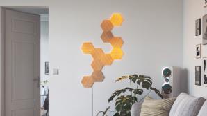 Smarte Deko-Beleuchtung: Nanoleaf Elements in Holzoptik©Nanoleaf
