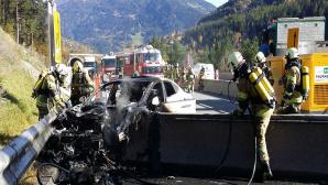 Elektroautos: Bundesregierung sieht keine erh�hte Brandgefahr©Feuerwehr Landeck