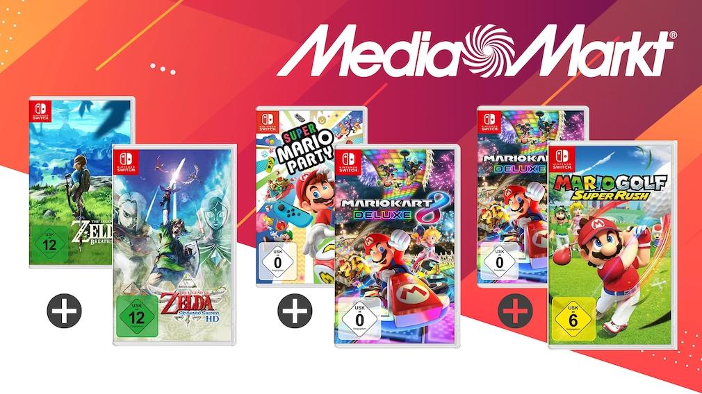Nintendo-Switch-Angebot bei Media Markt: Zwei Games im Bundle günstiger