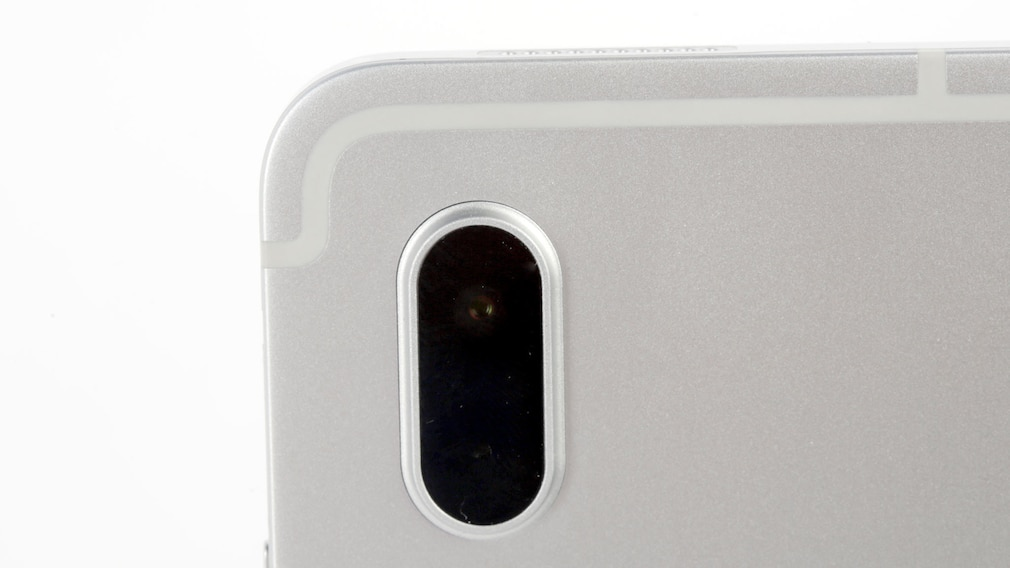 Die Kamera des Samsung Galaxy Tab S7 in der Nahaufnahme.