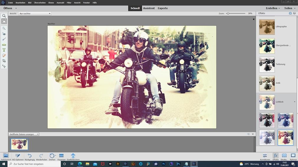 Adobe Photoshop Elements 2021 Effekte