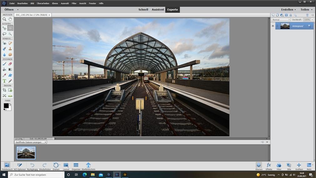 Adobe Photoshop Elements 2021 Expertenmodus