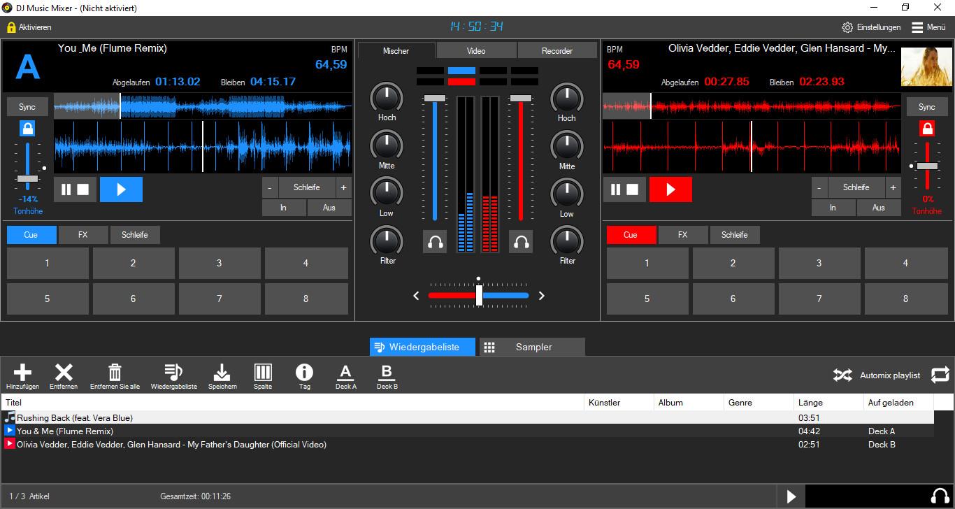 Screenshot 1 - DJ Music Mixer