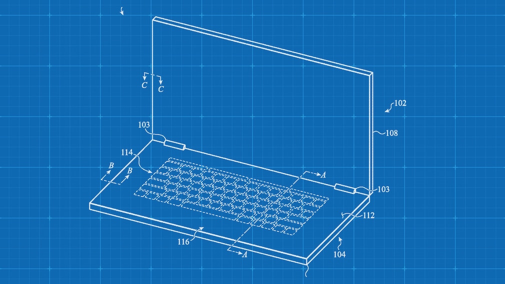 Apple-Notebook mit Touch-Tastatur? Neues Patent weist darauf hin Plant Apple ein Macbook mit zwei Displays? Darauf deutet dieses Patent.